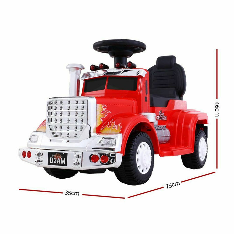 Rigo Kids Ride On Car Electric Toys Cars Battery Truck Children Motorbike Red