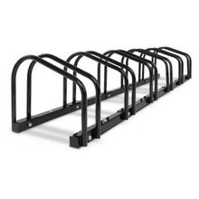 Load image into Gallery viewer, 1 – 6 Bike Floor Parking Rack Instant Storage Stand Bicycle Cycling Portable Blk