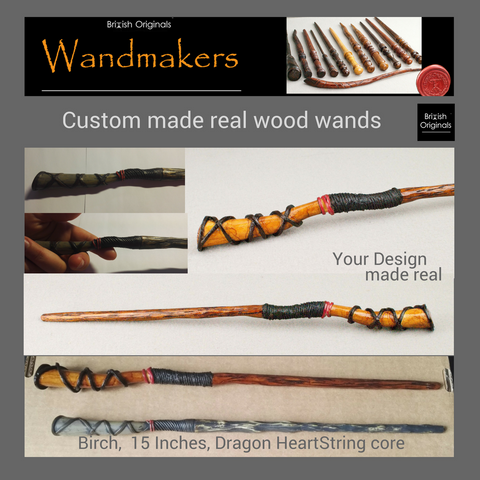 Custom made real wood magic wand - Your Design made real