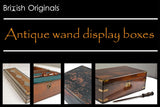 Antique magic wand display and presentation boxes