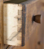 Machine cut drawer dovetails