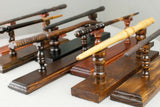 Solid wood wand display stands