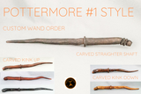 Pottermore custom wand orders made in real wood #1 style
