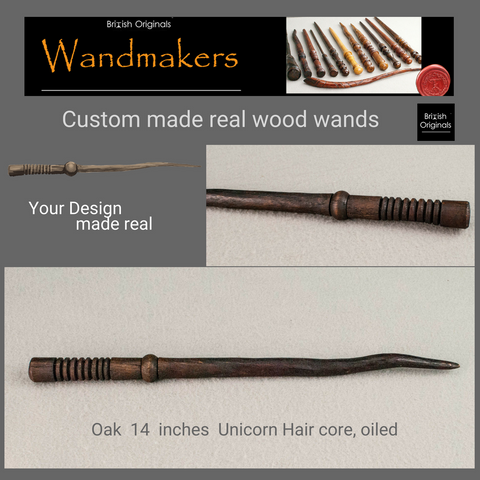 Pottermore custom real wood wand