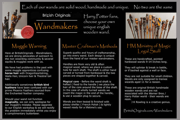 Master wandmakers real solid wood magic wands