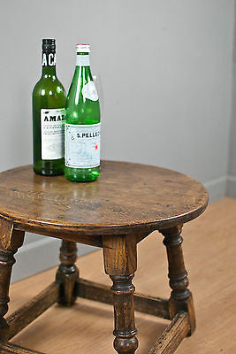 SOLID OAK WINE TABLE, SIDE or COFFEE TABLE,  CIRCULAR, c60YRS OLD