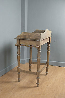 ELM WASHSTAND w.FRIEZE & 2 TOWEL RAILS, WAXED, ANTIQUE c150 YRSOLD
