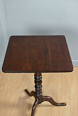 SOLID OAK TRIPOD WINE TABLE, SIDE/OCCASIONAL TABLE,  ANTIQUE c150YRS OLD