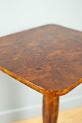 TRIPOD WINE TABLE, SIDE/OCCASIONAL TABLE, BURR WALNUT,  ANTIQUE c90YRS OLD