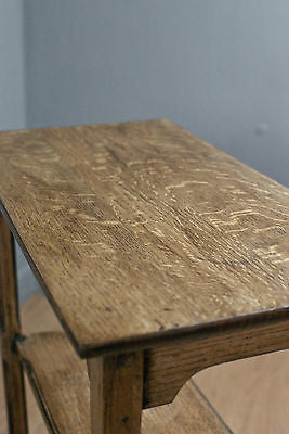 SOLID OAK RECTANGULAR WINE TABLE, SIDE or OCCASIONAL TABLE, c70 YRS OLD