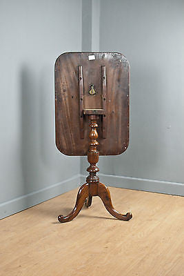 MAHOGANY WINE TABLE, SIDE or OCCASIONAL TABLE, TILT TOP, ANTIQUE, c150 YRS OLD