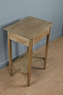 SOLID PINE RECTANGULAR WINE TABLE, SIDE or OCCASIONAL TABLE, c90 YRS OLD