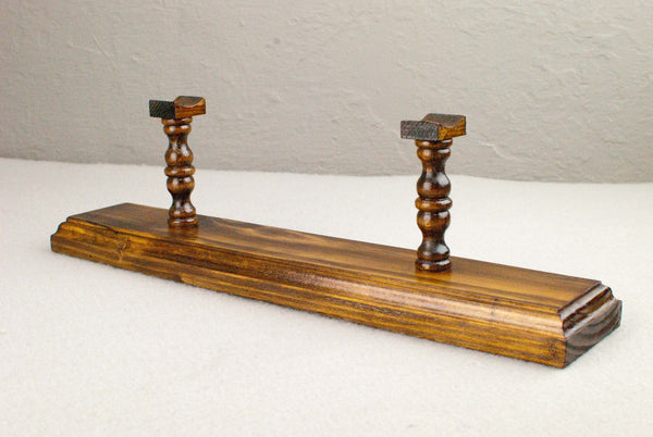 Wand Display Stand - Pine ( Walnut ) -  Reclaimed wood & Handmade Character