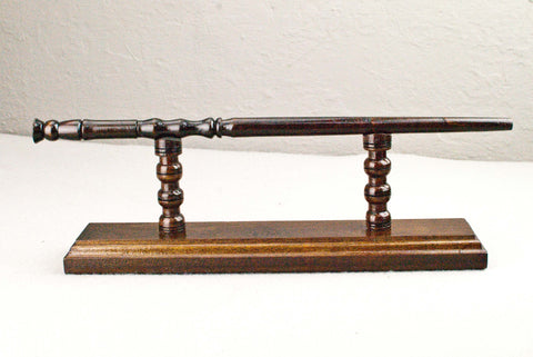 Cypress ( Rosewood ) - Wand Display Stand - Reclaimed wood c 200 years old.
