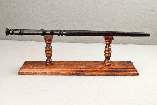 Wand Display Stand - Pine ( Red ) -  Reclaimed wood & Handmade Character