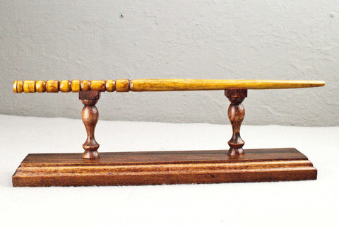 Wand Display Stand - Cypress ( Red ) -  Reclaimed wood & Handmade Character