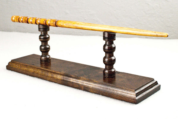 Wand Display Stand - Burr wood Cypress ( Walnut ) -  Reclaimed wood & Handmade Character