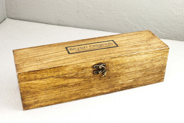 Solid wood wand gift or display box  | Single or double | Oak Wax Finish  |