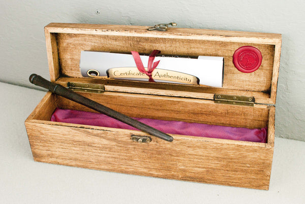 Solid wood wand gift or display Case  | Single or double | Oak Wax Finish  |