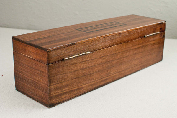 Solid wood wand gift or display box, french polished | Single or double | Peruvian Mahogany