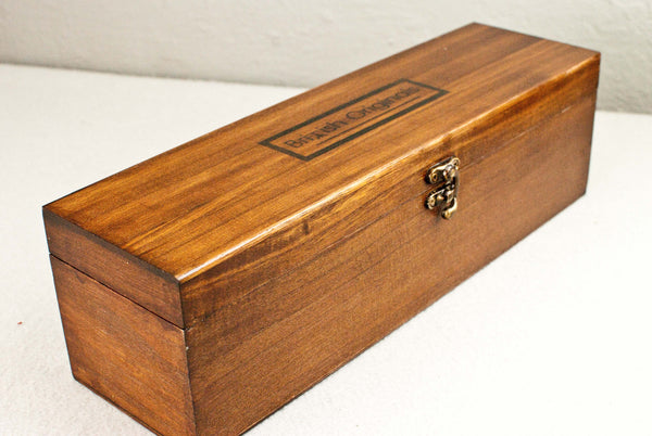 WOODEN WAND CASE | Gloss SHELLAC POLISHED | Peruvian Mahogany Tone