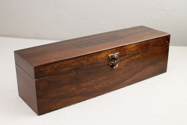 Solid wood wand gift or display box, french polished | Single or double | Rosewood |