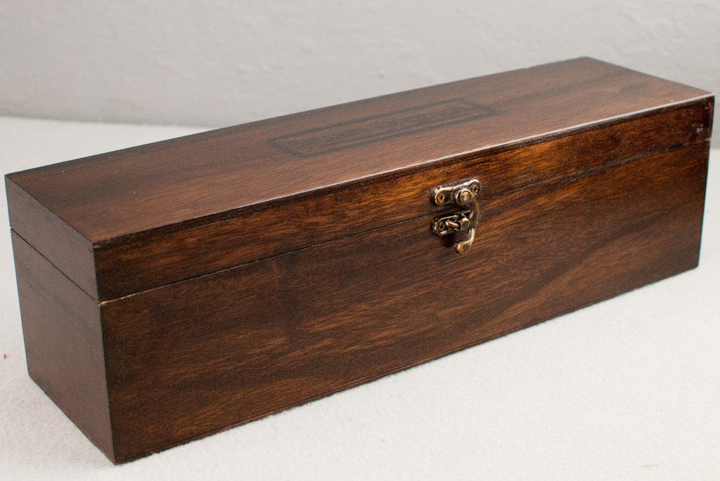 Solid wood wand gift or display Case, french polished | Single or double | Rosewood Tone |
