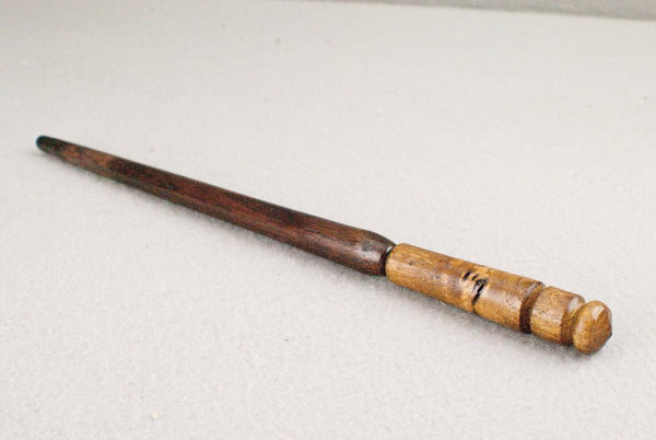 11 1/8th Inch, Chestnut, Real wood Wand  | Handmade & Unique |