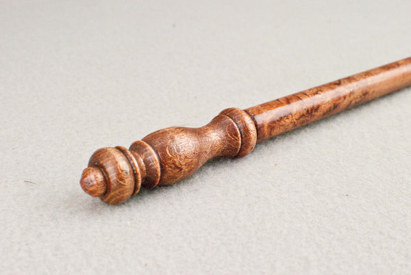 12 1/4 Inch, Beech, Real wood Wand,  | Old Mahogany | Handmade |