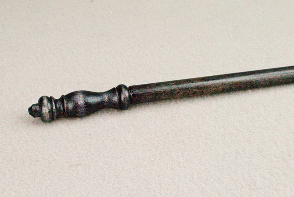 12 1/4 Inch, Beech, Real wood Wand,  | Ebony | Handmade |