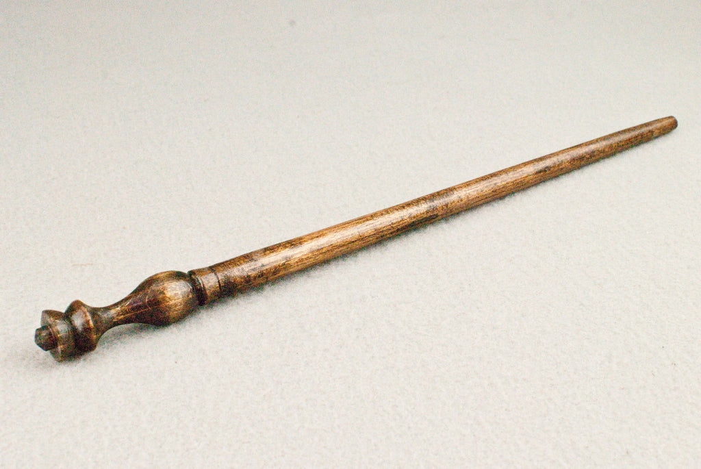 12 1/4 Inch, Beech, Real wood Wand,  | Dark Walnut | Handmade |