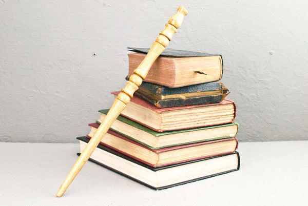 12 & 7/8th Inch English Ash, Real Wooden Wand,  | Unique design, made by hand |