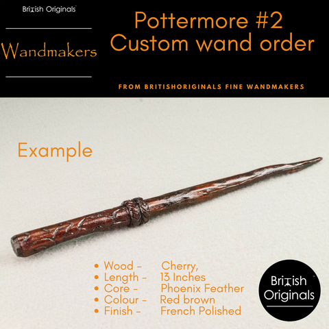 Custom Wand | Pottermore Wand #2 Style | Handmade |  Digital design, made real