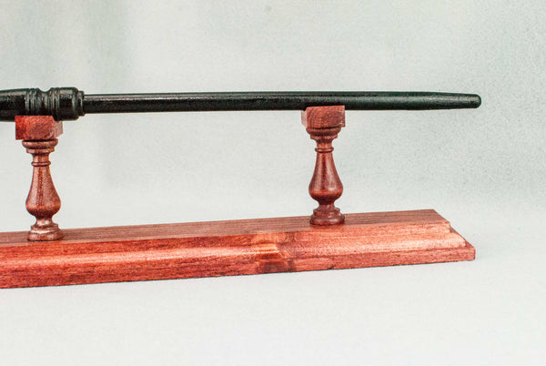 WAND DISPLAY STAND | 11 1/3rd INCH PINE  | HANDMADE | RED TONE