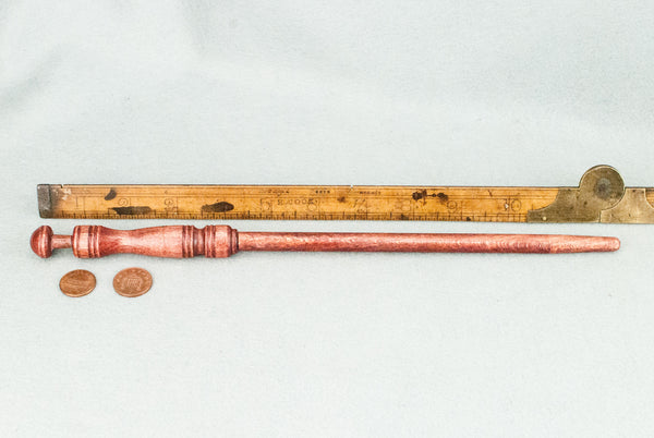 12 1/4 INCH | RUSTY RED | SOLID BEECH  REAL WOOD WAND