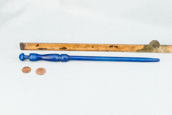 12 1/4 INCH | ROYAL BLUE | SOLID BEECH  REAL WOOD WAND