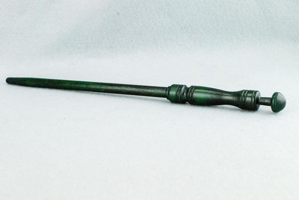 12 1/4 INCH | FOREST GREEN | SOLID BEECH  REAL WOOD WAND