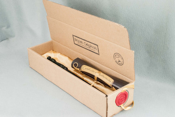 WAND BOX, RECYCLED CARD, AUTHENTIC WAX SEAL - Choose your colour