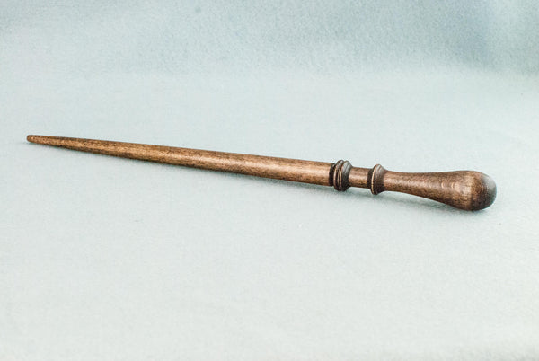 11 3/4 INCH | ANTIQUE WOOD TONE | SOLID BEECH REAL WOOD WAND
