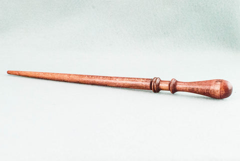 11 3/4 INCH | RUSTY RED TONE | SOLID BEECH REAL WOOD WAND
