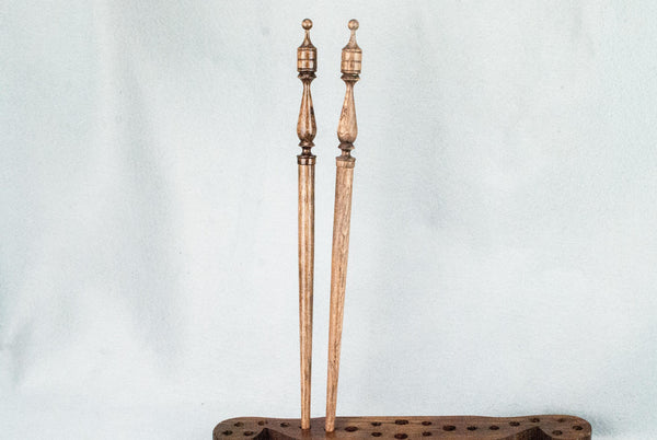 13 INCH | ANTIQUE WOOD TONE ENGLISH OAK | REAL WOOD WAND