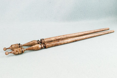 13 INCH | WALNUT TONE ENGLISH OAK | REAL WOOD WAND