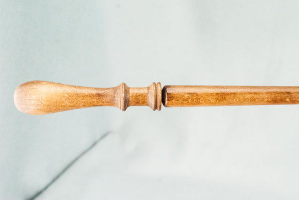 11 3/4 INCH | PALE OAK TONE | SOLID BEECH REAL WOOD WAND