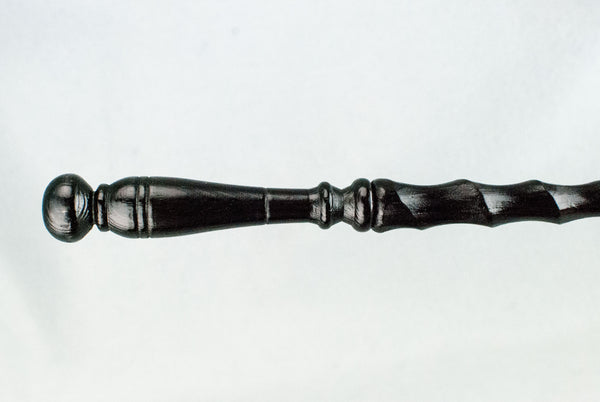 EBONY FIR 12 1/2 INCH SPIRAL SHAFT | HANDMADE REAL WOOD WAND