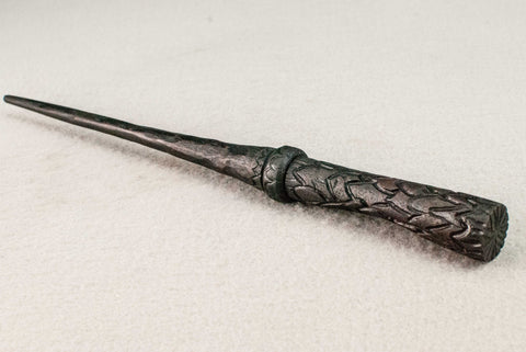 """Ebony"" Dragon Scale 13 1/2 Inches, Matt oil finish 