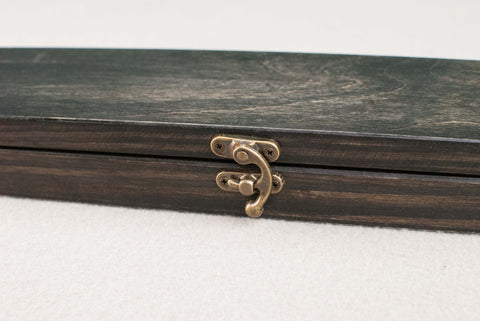 Wooden Wand Display Cox  | Ebony Tone - Wax finish | Interior Logo |