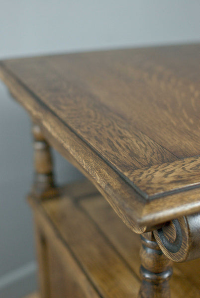 Solid Oak Monk's bench, Hall shoe store or side table. Waxed.  c70 years old