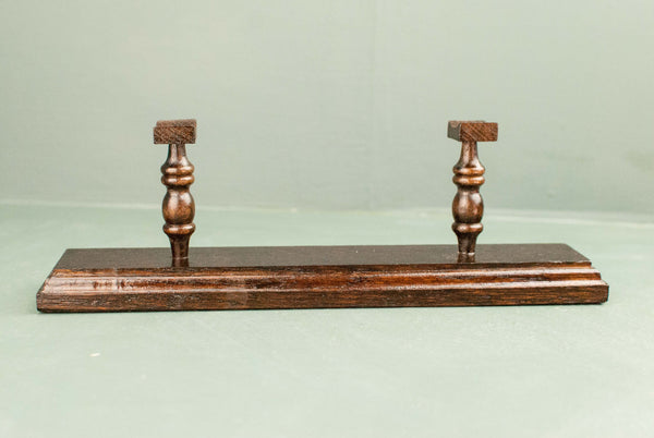 Wand Display Stand - Rosewood Tone | 180 y/o reclaimed English oak & Handmade | Style #2