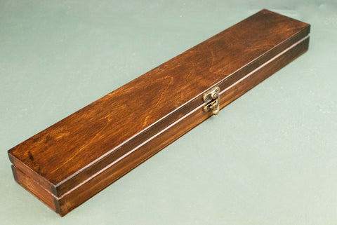 Wooden Wand Display Case | Rosewood - French Polished | Logo Inside |