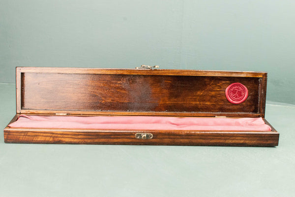 Wooden Wand Display Case | Rosewood - French Polished | Logo Outside |